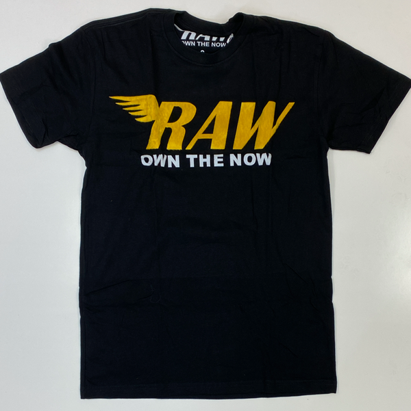 Rawyalty-raw patch ss tee (black/yellow)
