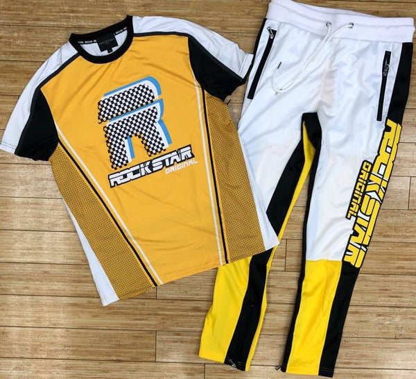 Rockstar-yellow hunt tracksuit