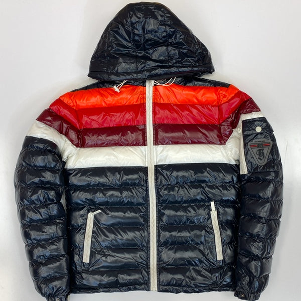 Bkys- color stripe quilted jacket