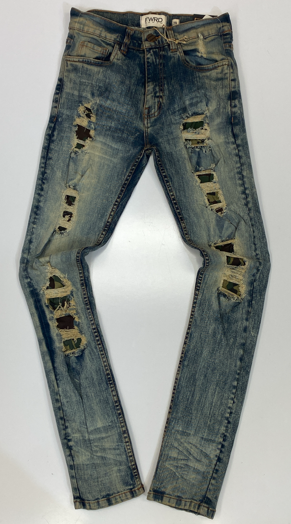 Evolution- camo patched jeans