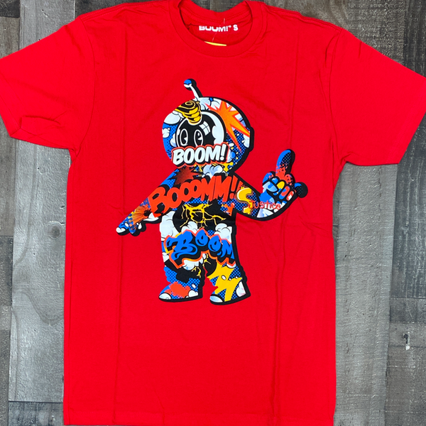BOOM- boom robot ss tee (red)