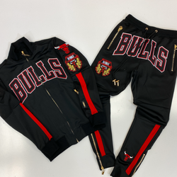 Pro max- Chicago bulls team wordmark tracksuit