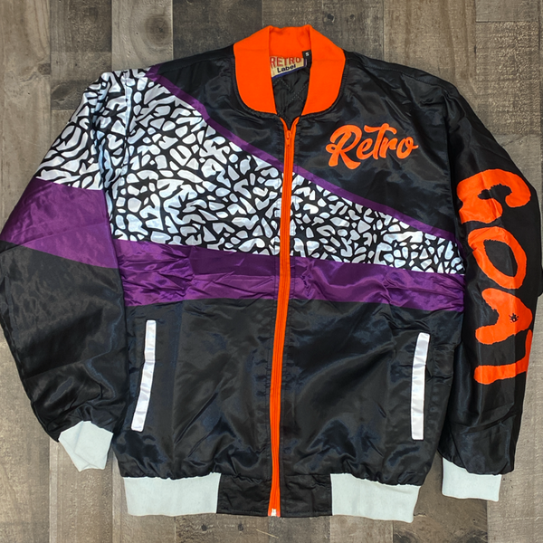 Retro label- 3's Court purple jacket