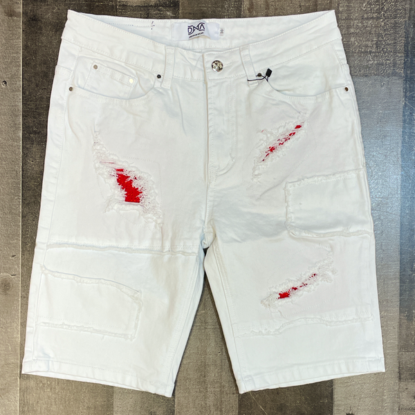 DNA premium wear- patched studded shorts