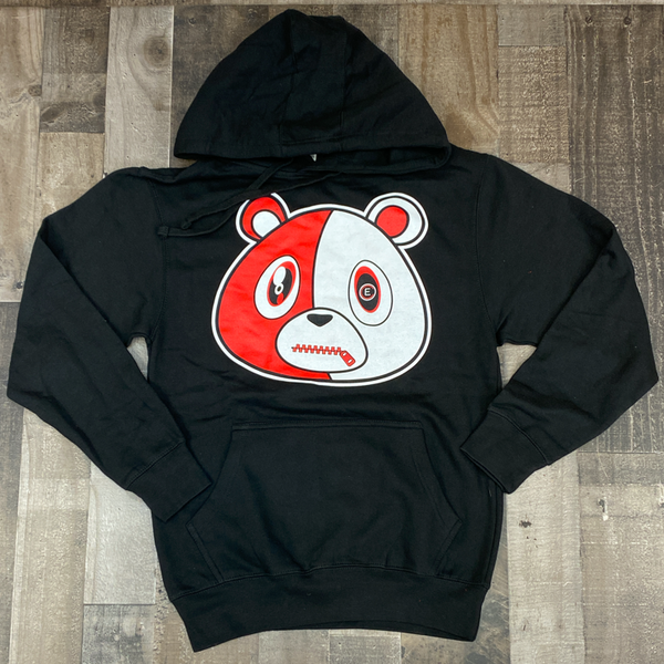 Effectus Clothing- e bear hoodie (black/red)