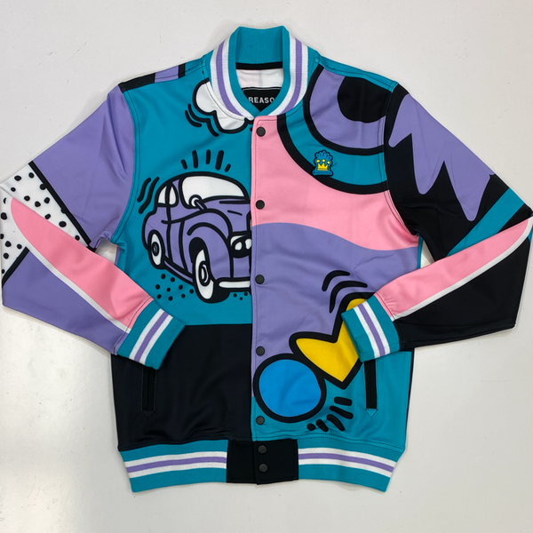 Reason- party block track jacket