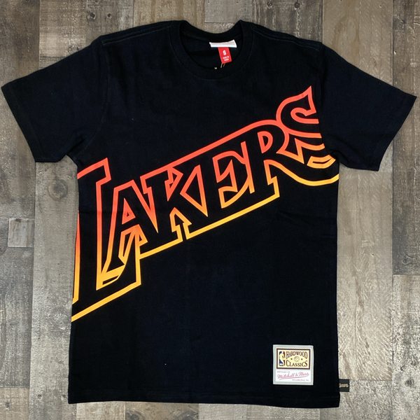 Mitchell & Ness- nba flames ss tee Lakers