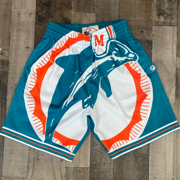 Mitchell & Ness- NFL big face shorts Dolphins