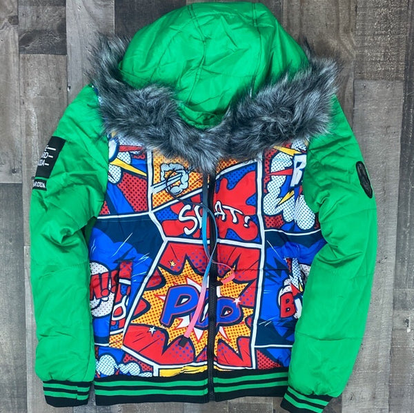Hard Soda- comic bubble jacket (green)
