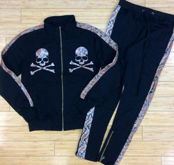 Eternity-snake skin Skelton head track suits