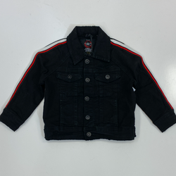 Jordan Craig- jet black denim jacket with striping (kids)