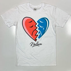 No love- broken heart ss tee