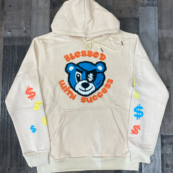 Camp- Bless W/ success hoodie (tan)