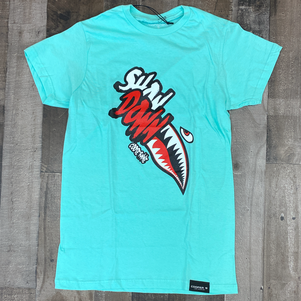 "Cooper 9- ""show down"" graphic ss tee (mint)"