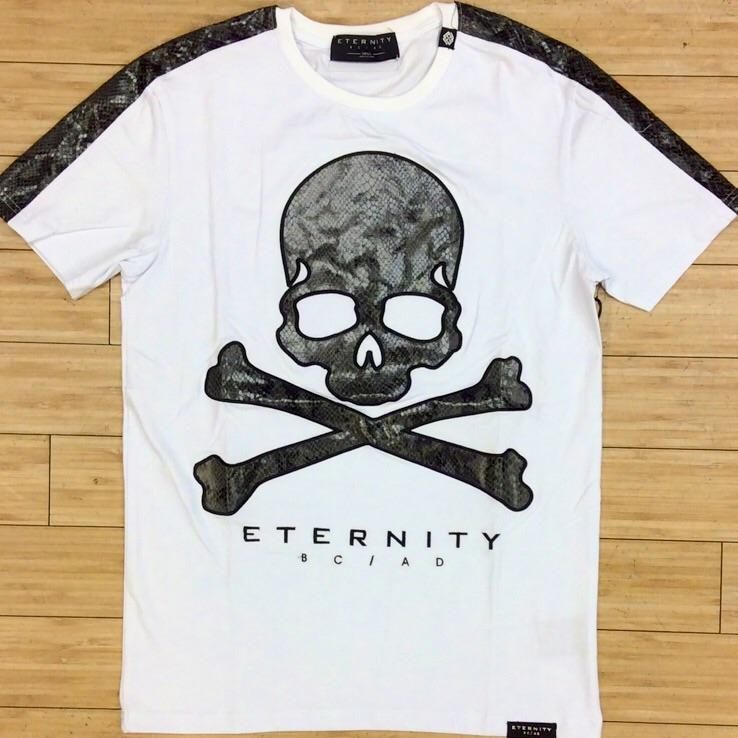 Eternity-snake skin skeleton head ss tee
