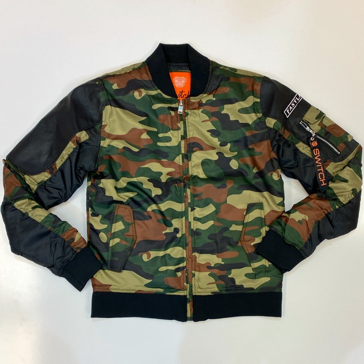 Switch- two tone bomber jacket