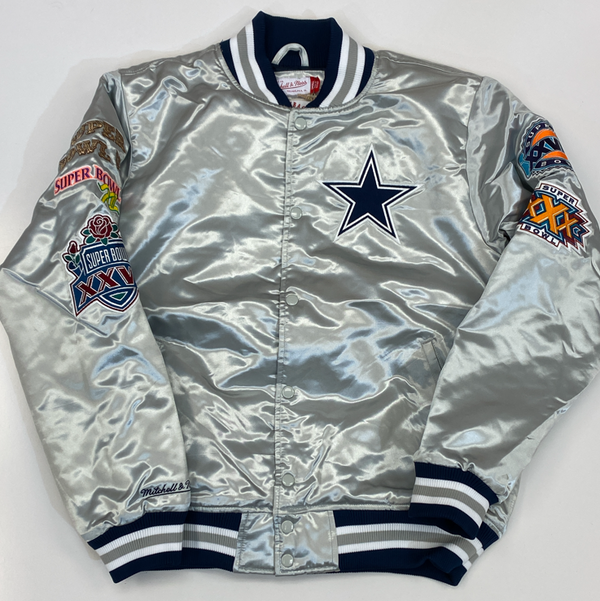 Mitchell & Ness- Dallas Cowboys nba championship satin jacket