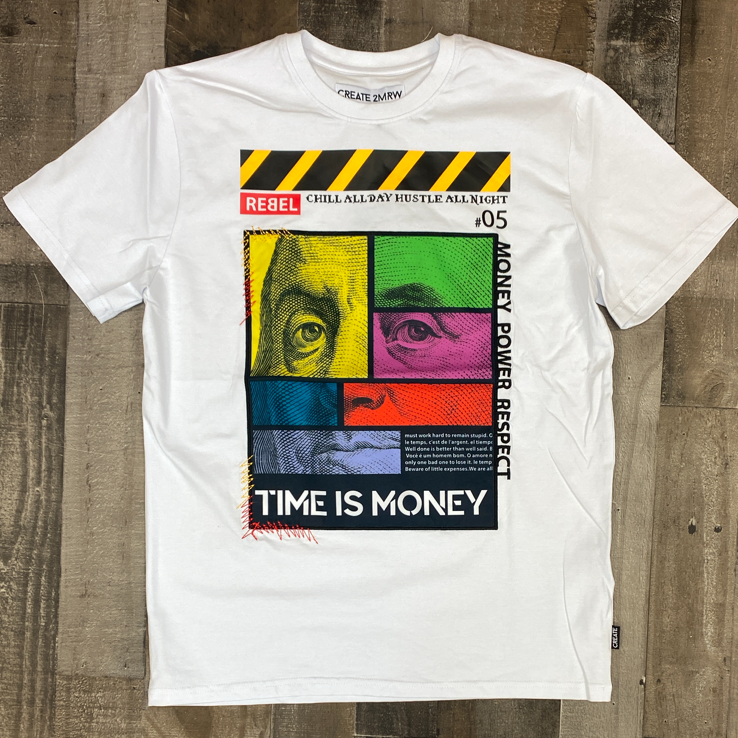 Create Tmrw- time is money ss tee