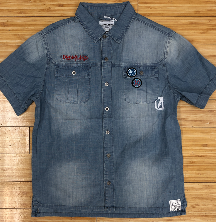 Dreamland- patches denim top