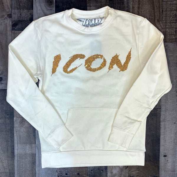 Rawyalty- Icon sweater (cream/gold)