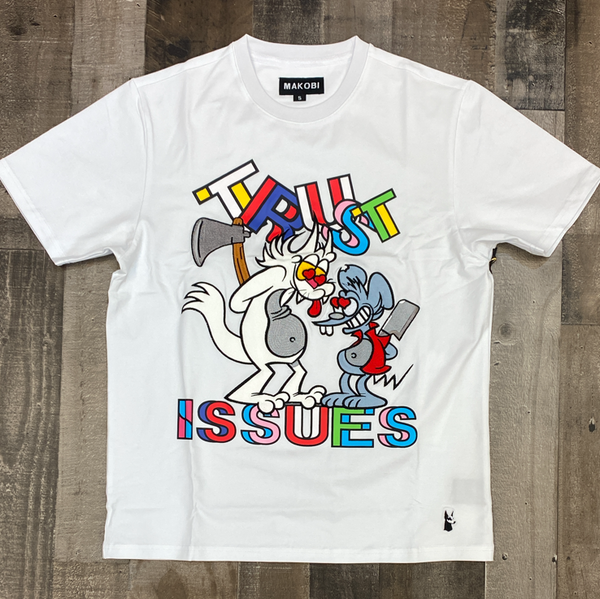 Makobi- trust issues ss tee (white)