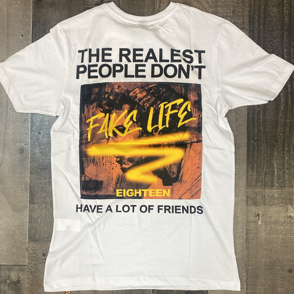 Plus Eighteen- real v fake ss tee