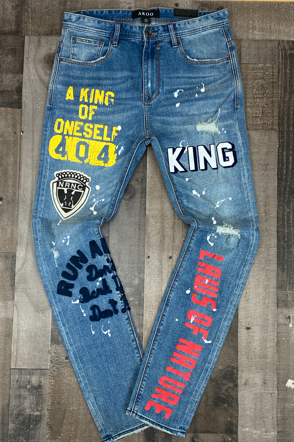 Akoo- crown jeans