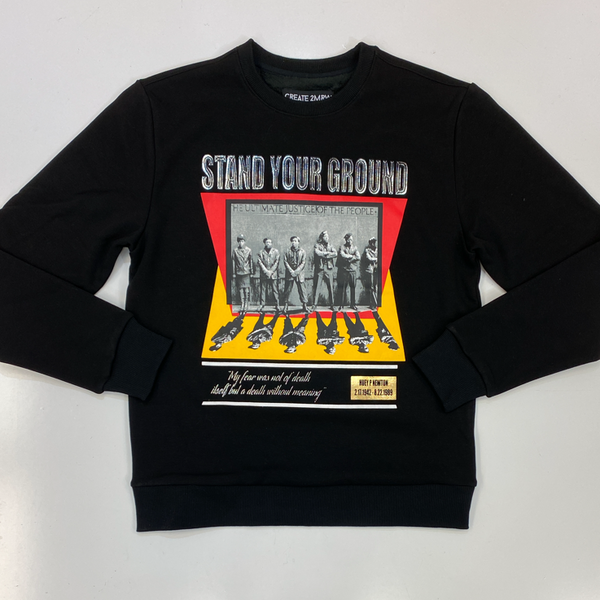 Create Tmrw- stand your ground sweatshirt