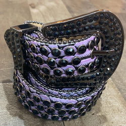 Dna Premium Wear- snake skin studded belt