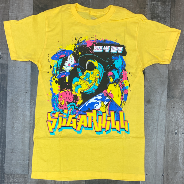 Sugarhill- space trip ss tee (yellow)