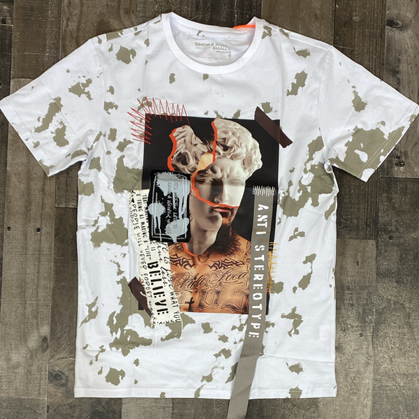 Smoke rise- collage patch ss tee