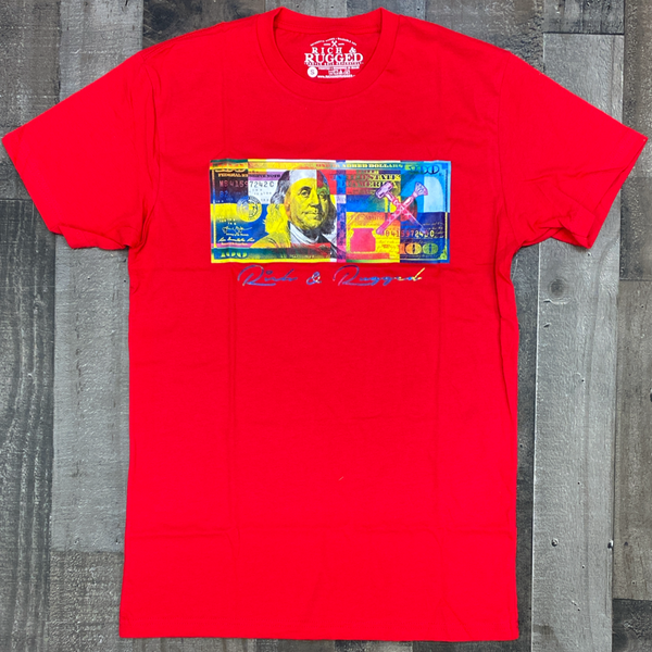 Rich & Rugged- color money ss tee (red)