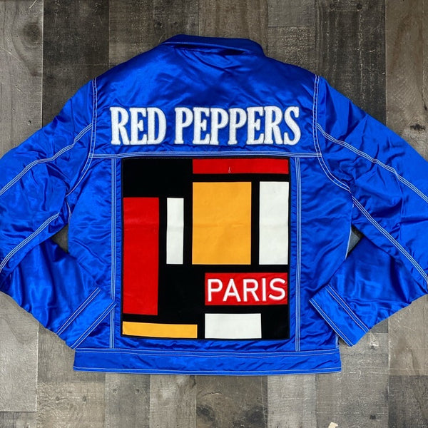 SD Sports- Paris red peppers satin jacket