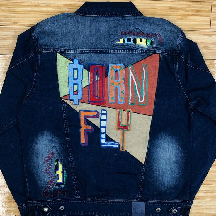 Born fly- bf patches denim jacket