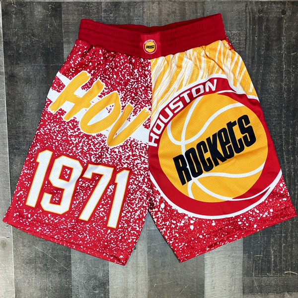 Mitchell & Ness- houston rockets nba shorts