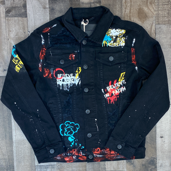Kloud 9- I believe in faith Jean jacket