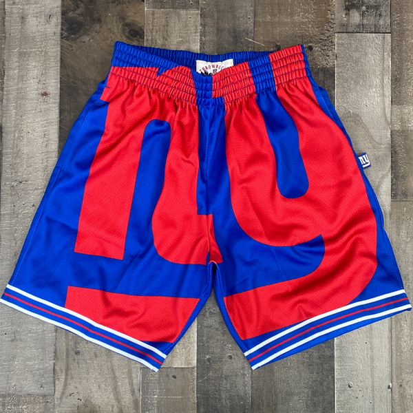 Mitchell & Ness- NFL big face shorts Giants