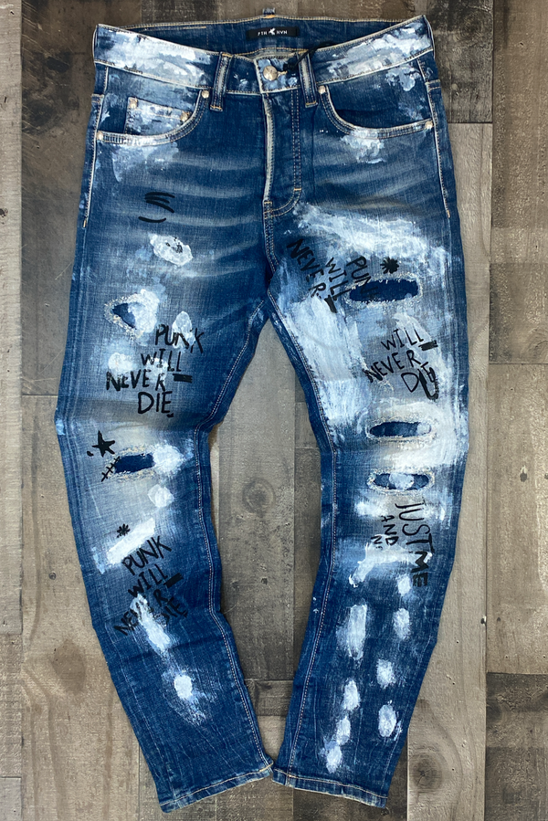 7th hvn- pink will never die  denim jeans