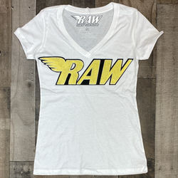 Rawyalty- raw chenille patch ss tee (women)