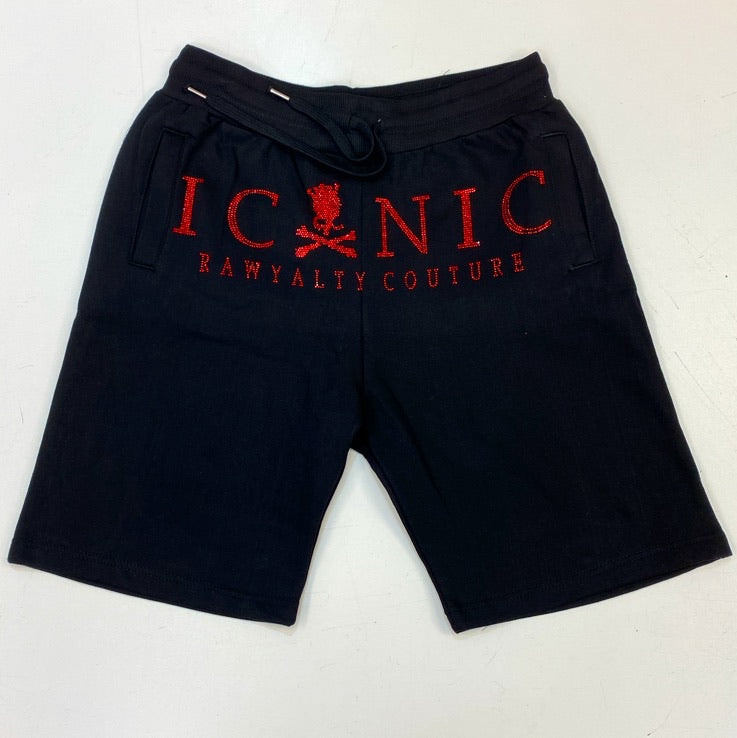 Rawyalty- iconic rawyalty shorts (black/red)
