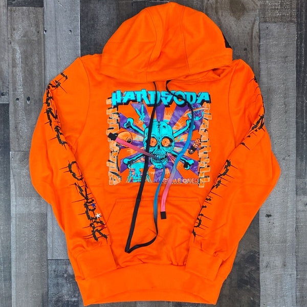 Hard Soda- voodoo hoodie (orange)
