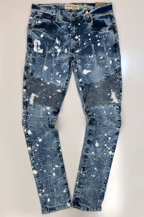 Evolution- prospect painted denim jeans