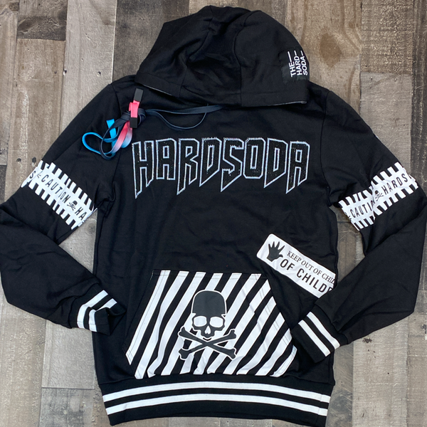 Hard Soda- studded hard soda hoodie (black)