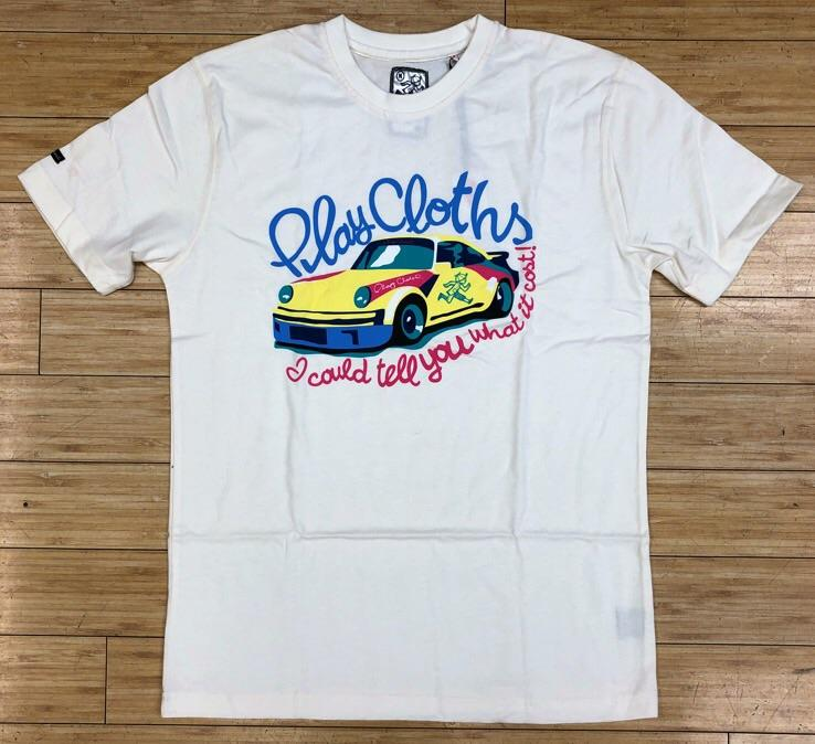 Playcloth- white the cost ss tee