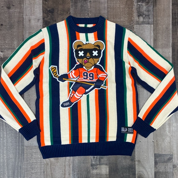 Black pike- hockey bear sweater