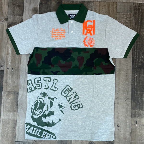 Hustle gang- veil ss polo shirt