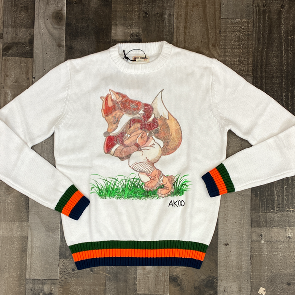 Akoo- QB sneak sweater (white)