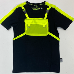 Hard Soda- pouch ss tee (black/lime)
