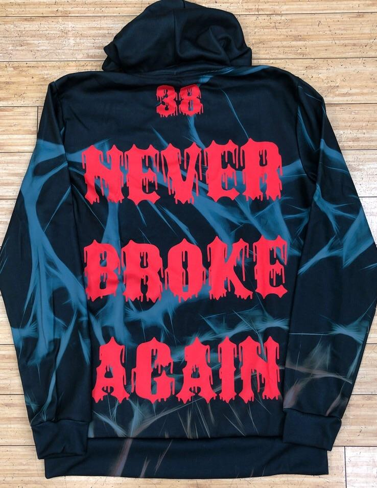 Never broke again- skull fade hoody