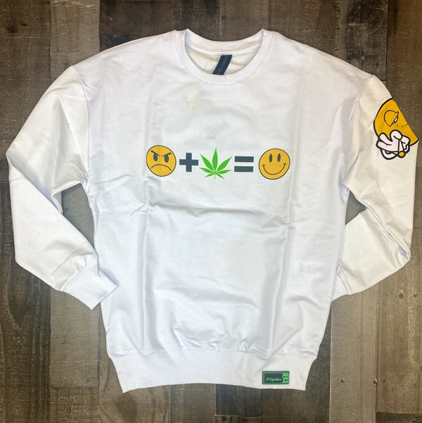 Plus Eighteen- welcome to my world sweater (white)